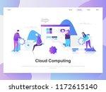 cloud computing modern flat... | Shutterstock .eps vector #1172615140