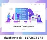 software development modern... | Shutterstock .eps vector #1172615173