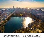 manhattan island and central... | Shutterstock . vector #1172616250