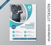 business a4 flyer design... | Shutterstock .eps vector #1172616256