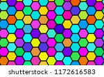 honeycomb many color ... | Shutterstock . vector #1172616583