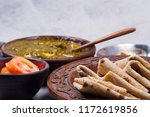 palak paneer curry made up of... | Shutterstock . vector #1172619856