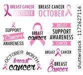 breast cancer awareness month... | Shutterstock .eps vector #1172627116