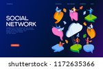 people chat in social network.... | Shutterstock .eps vector #1172635366