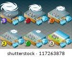isometric tornado hurricane... | Shutterstock .eps vector #117263878