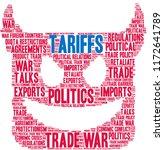 tariffs word cloud on a white...   Shutterstock .eps vector #1172641789