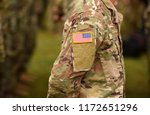 usa patch flag on army uniform. ... | Shutterstock . vector #1172651296