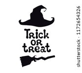 trick or treat. halloween theme.... | Shutterstock .eps vector #1172654326