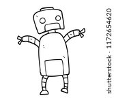 line drawing cartoon robot... | Shutterstock .eps vector #1172654620