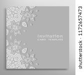 invitation or card template... | Shutterstock .eps vector #1172657473