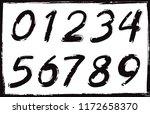 set of grunge numbers.vector... | Shutterstock .eps vector #1172658370