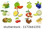 the fruits of thailand are... | Shutterstock .eps vector #1172661253