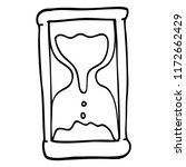 line drawing cartoon hourglass | Shutterstock .eps vector #1172662429