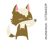 flat color style cartoon wolf...   Shutterstock .eps vector #1172664229