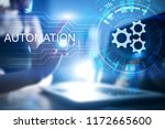 automation concept as an... | Shutterstock . vector #1172665600