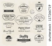 premium quality labels... | Shutterstock .eps vector #117266719