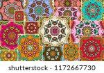 vector patchwork quilt pattern. ... | Shutterstock .eps vector #1172667730