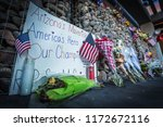 Small photo of PHOENIX, AZ - AUG. 28, 2018: A memorial for former Arizona Senator John McCain outside his office. Senator McCain died of brain cancer at the age of 81.