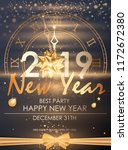 happy new year 2019 winter... | Shutterstock .eps vector #1172672380