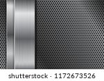 metal perforated background... | Shutterstock .eps vector #1172673526
