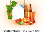 vector beer glass  barbeque...   Shutterstock .eps vector #1172674120