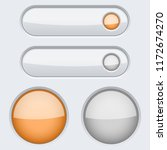 white buttons with orange... | Shutterstock . vector #1172674270