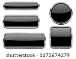 black glass buttons with chrome ... | Shutterstock . vector #1172674279