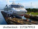 cruise ship passengers crowding ... | Shutterstock . vector #1172679913