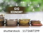 gig economy on the touch screen ... | Shutterstock . vector #1172687299