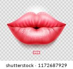 sexy female lips isolated on... | Shutterstock .eps vector #1172687929