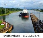 westbound oil tanker... | Shutterstock . vector #1172689576