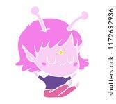 flat color style cartoon alien...   Shutterstock .eps vector #1172692936