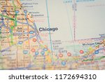 chicago on the map   Shutterstock . vector #1172694310