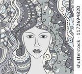 beautiful fashion women  girl... | Shutterstock .eps vector #1172694820