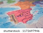 spain on the map | Shutterstock . vector #1172697946