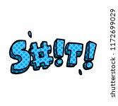 cartoon doodle swear word   Shutterstock .eps vector #1172699029
