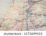 spokane on the map   Shutterstock . vector #1172699413