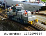 electric tug also referred to... | Shutterstock . vector #1172699989