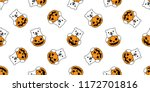 bear seamless pattern vector... | Shutterstock .eps vector #1172701816