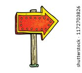 cartoon doodle lit up sign | Shutterstock .eps vector #1172703826