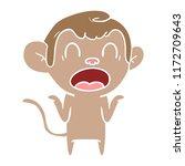 shouting flat color style... | Shutterstock .eps vector #1172709643
