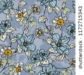 seamless pattern with flowers...   Shutterstock .eps vector #1172715343