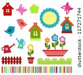 colorful child scrapbook... | Shutterstock .eps vector #117271744