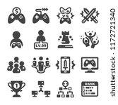 esport cybersport icon set | Shutterstock .eps vector #1172721340