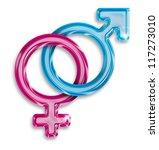 male and female gender symbols... | Shutterstock . vector #117273010