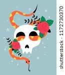 vector halloween illustration.... | Shutterstock .eps vector #1172730370