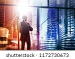 business and finance graph on... | Shutterstock . vector #1172730673