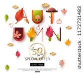 autumn sale banner. autumnal... | Shutterstock .eps vector #1172731483