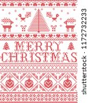 christmas pattern merry... | Shutterstock .eps vector #1172732233