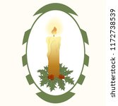 christmas candle with fire ... | Shutterstock .eps vector #1172738539